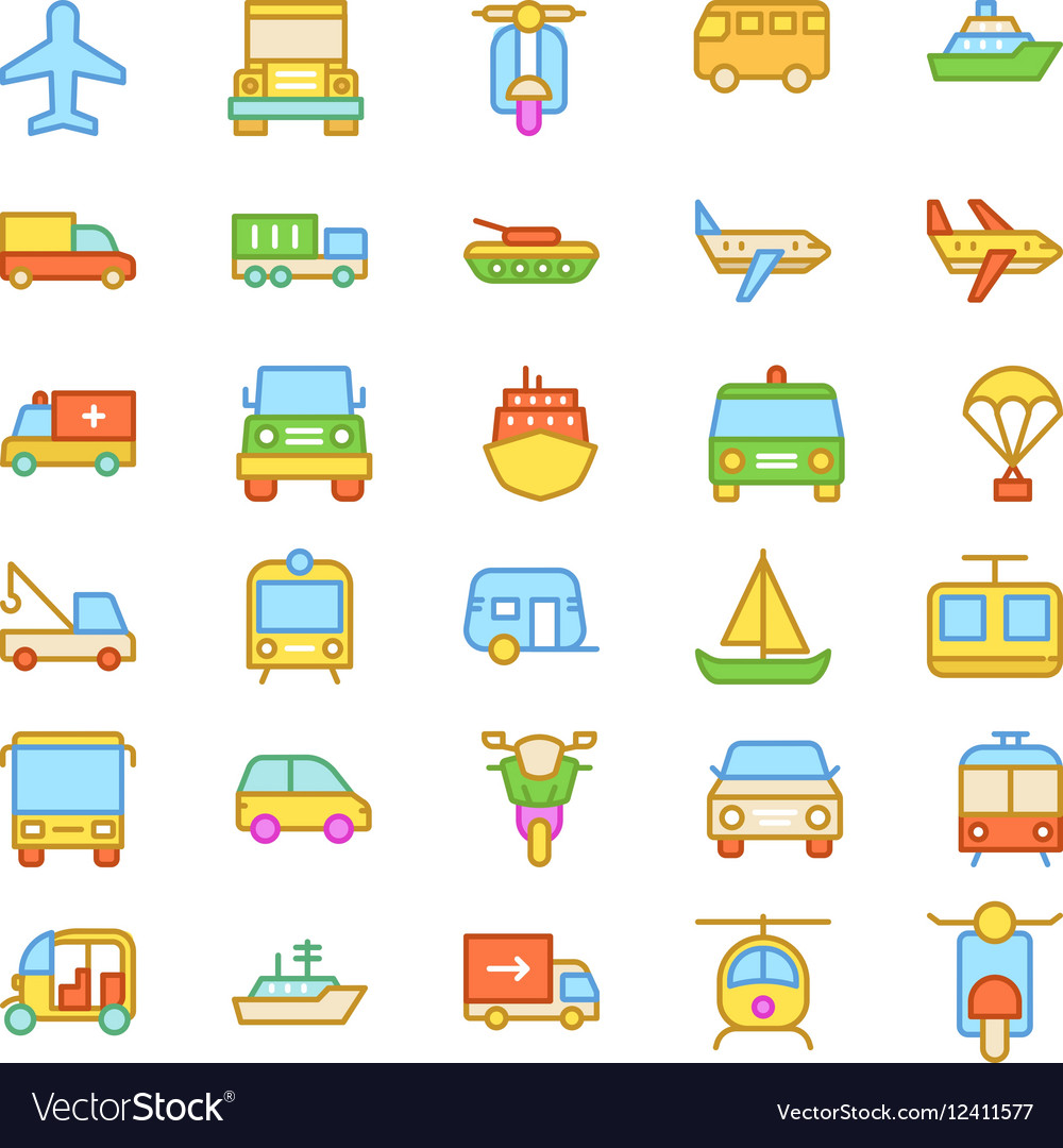 Transport Colored Icons 3