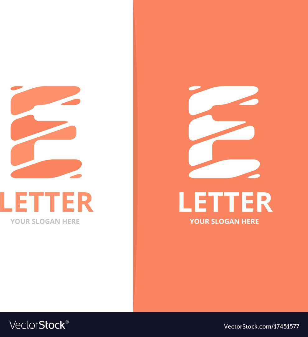 Unique letter e logo design template royalty free vector unique letter e logo design template vector image spiritdancerdesigns Images
