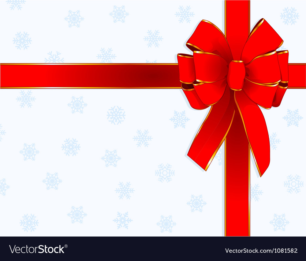 Christmas bow design vector image