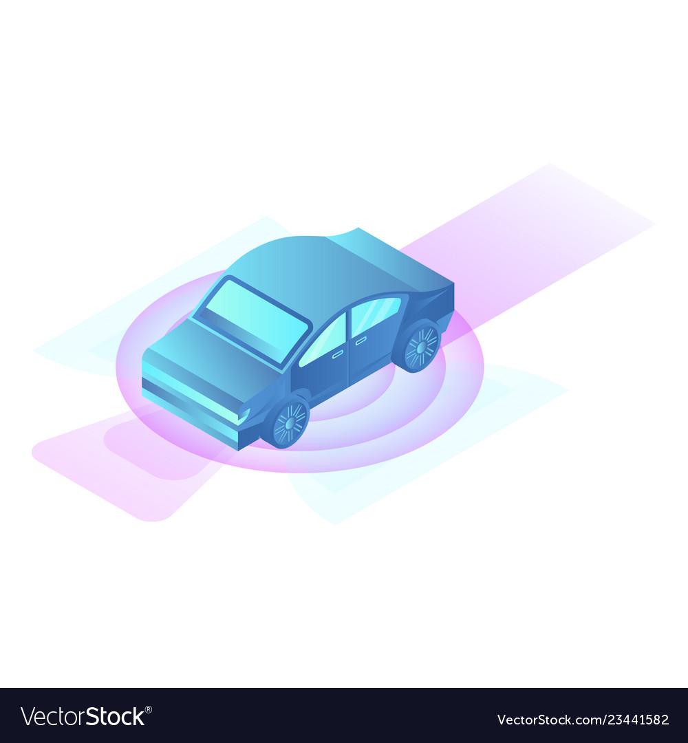 City car icon isometric style