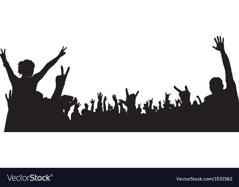 Concert Crowd Silhouette Royalty Free Vector Image To get more templates about posters,flyers,brochures,card,mockup,logo,video,sound,ppt,word,please visit pikbest.com. vectorstock