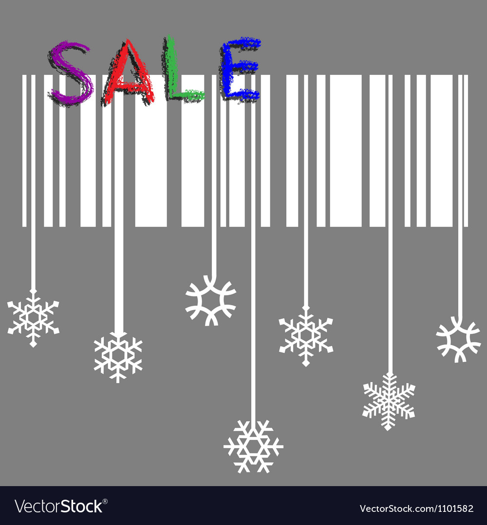 Creative winter sale with stylized snowflake and