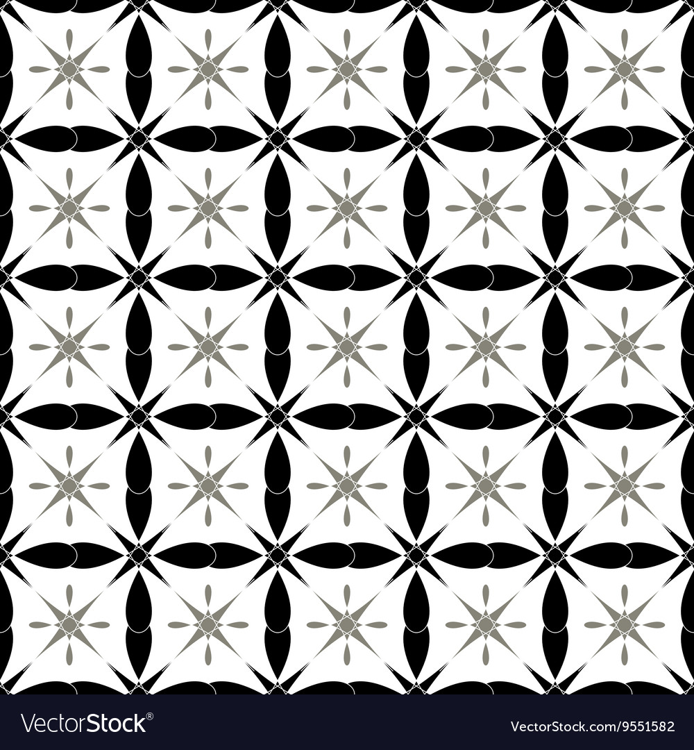 Flower and square seamless pattern
