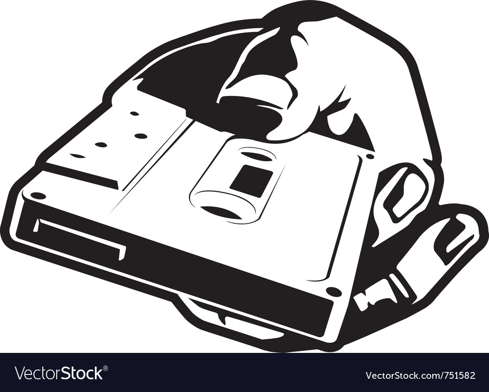 Hand with cassette
