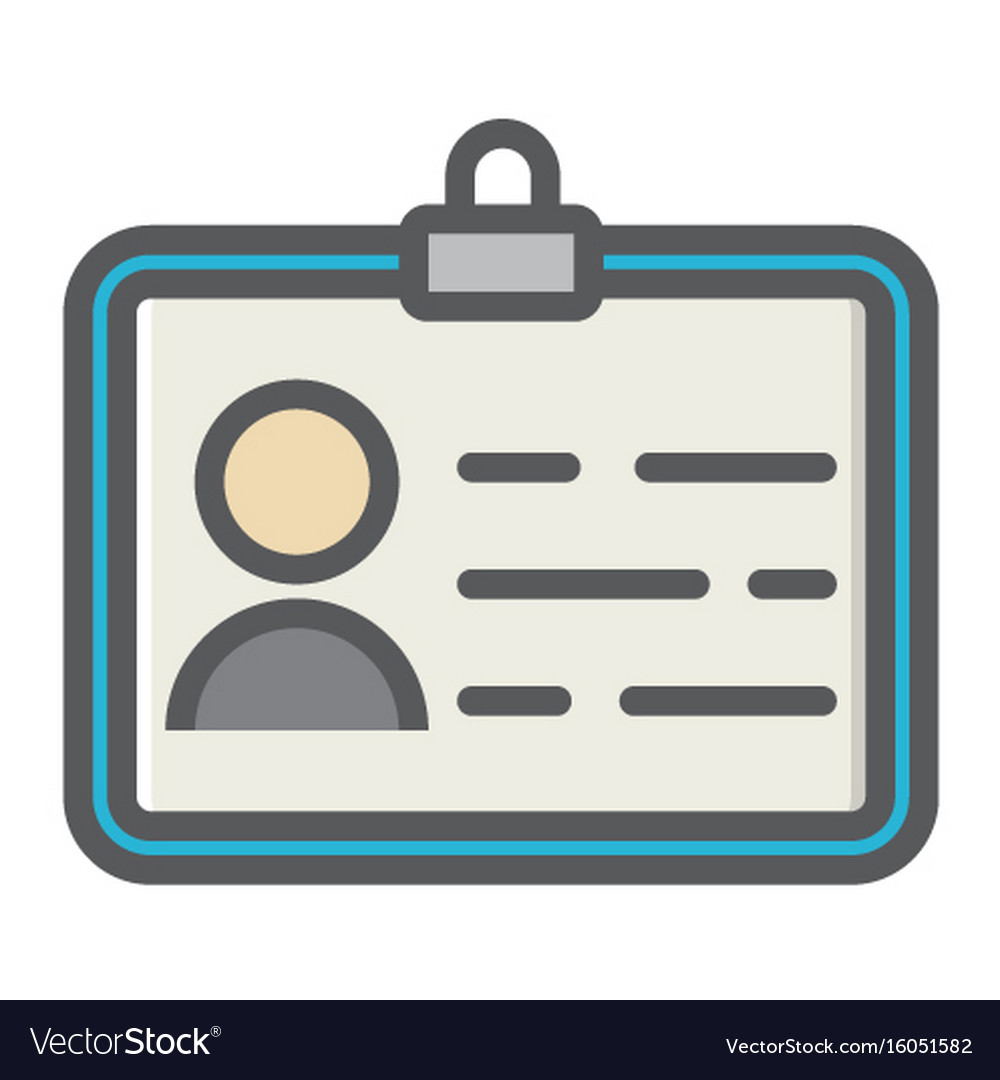 identity colorful line icon id and identification vector image vectorstock