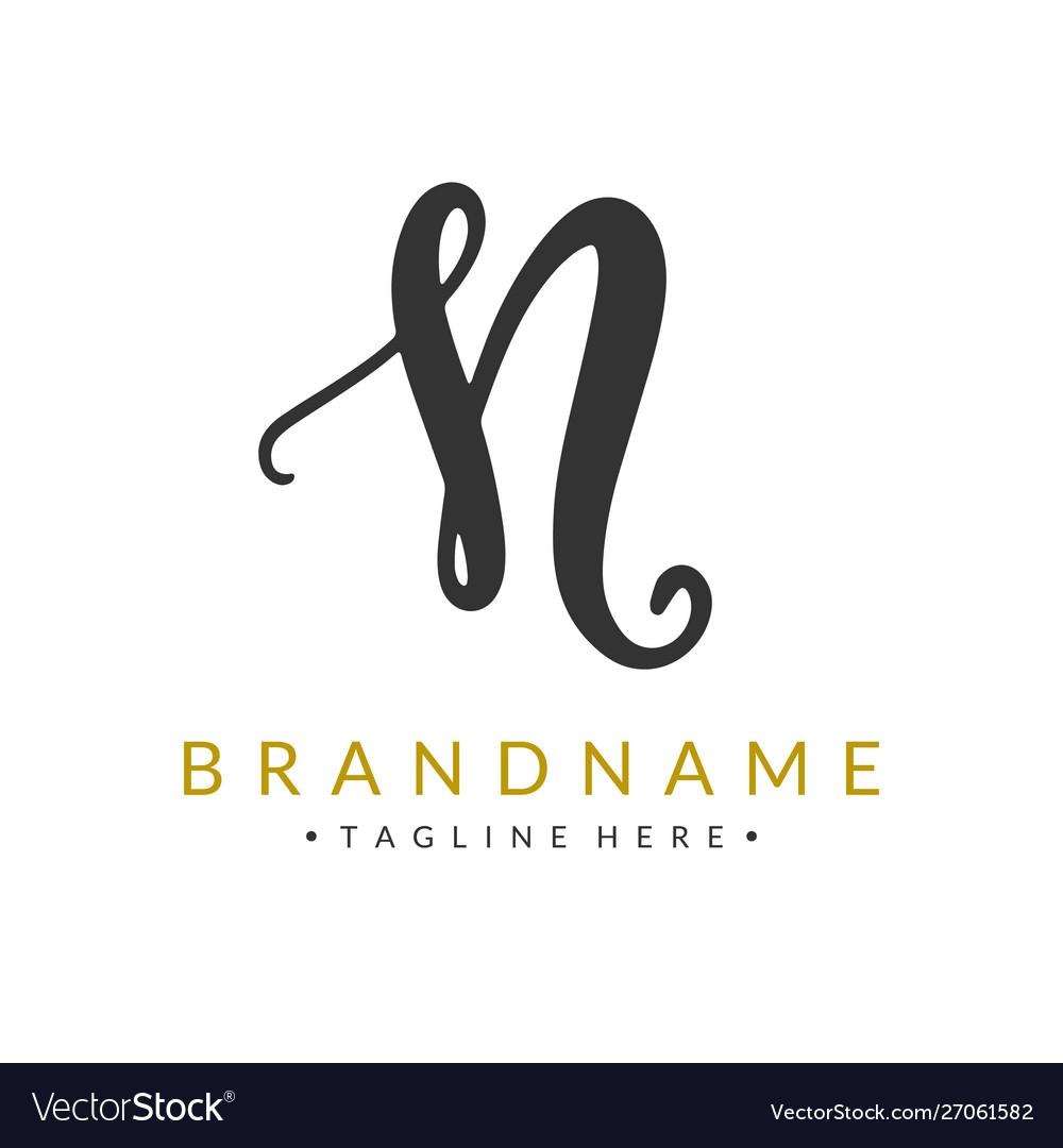 Letter n logo design template company identity