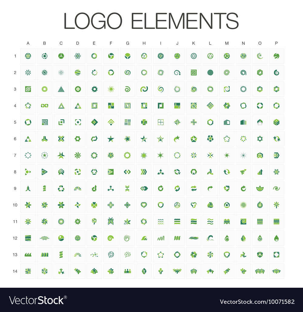 Logo mega collection abstract geometric business