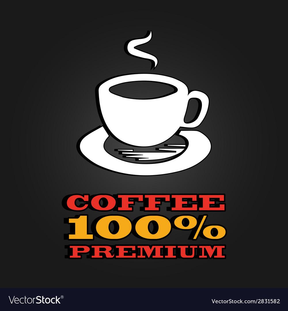 Premium coffee cup label concept menu poster