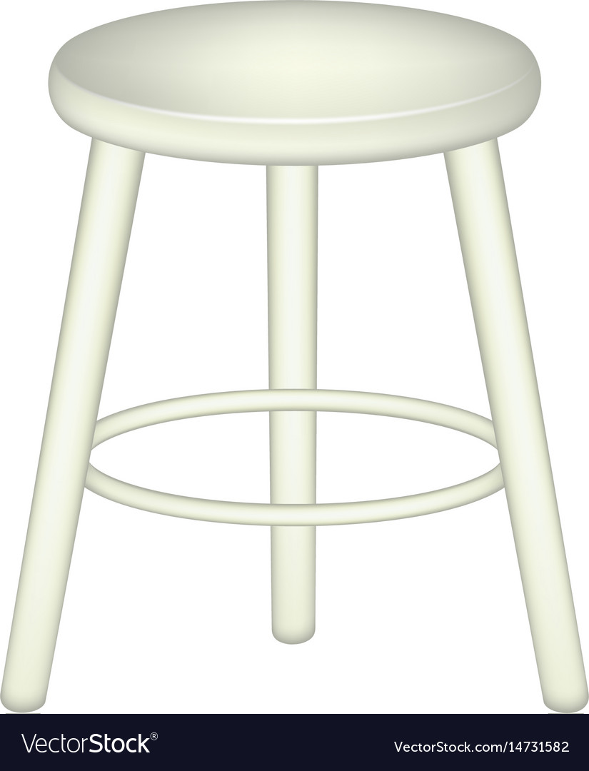 Retro stool in white design