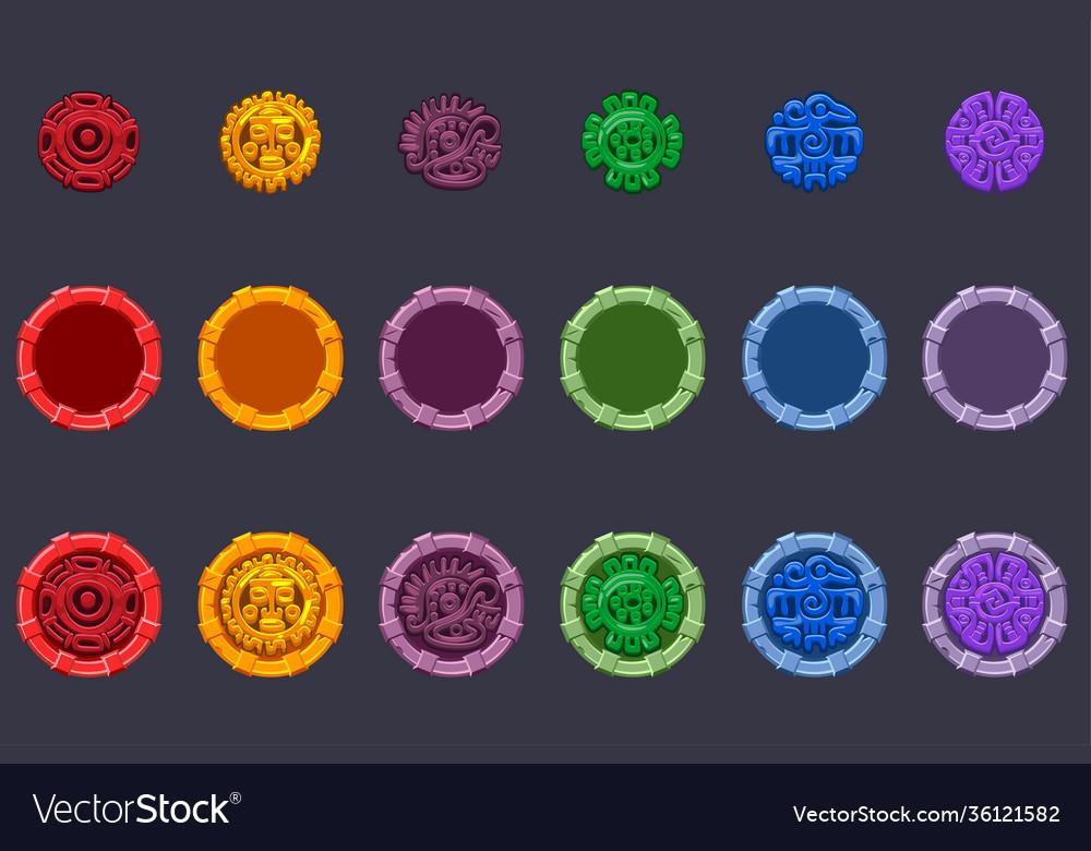 Set symbol aztecs maya culture