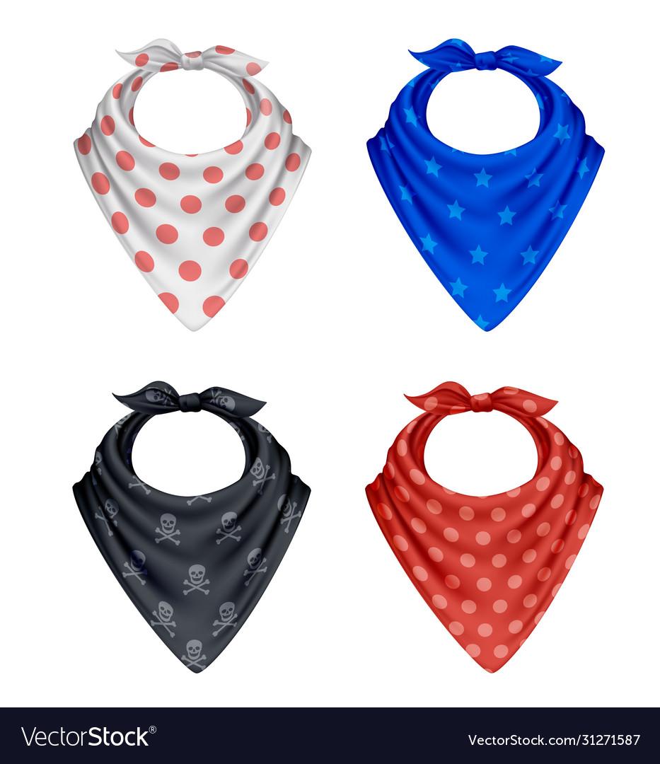 Bandana polkadot pattern set