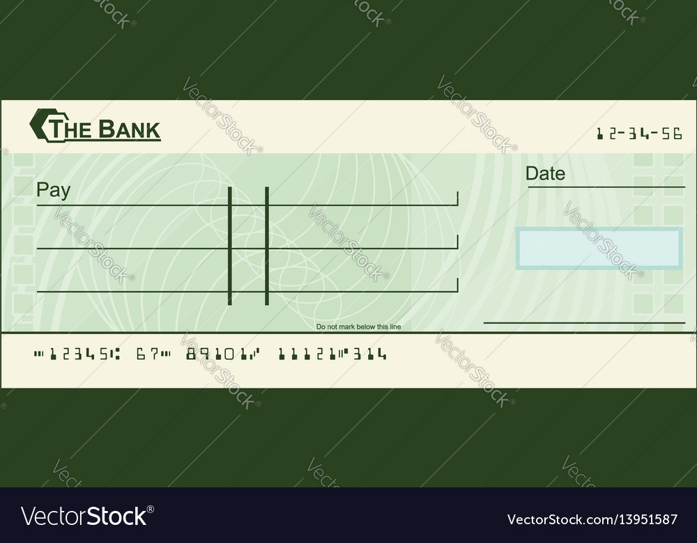 Blank cheque