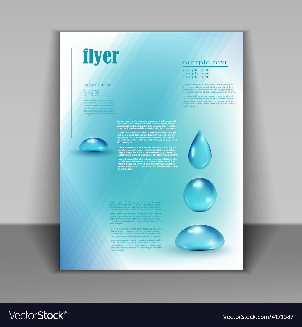 Booklet with water drops