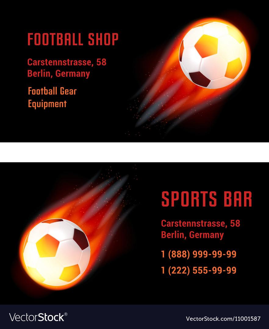 Card Football Ball with fire