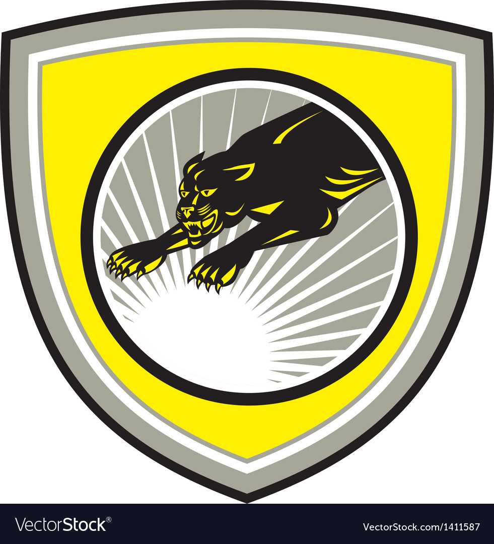 Panther Big Cat Growling Crest