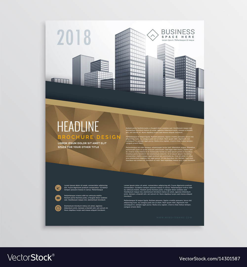 real estate brochure flyer template design with vector image