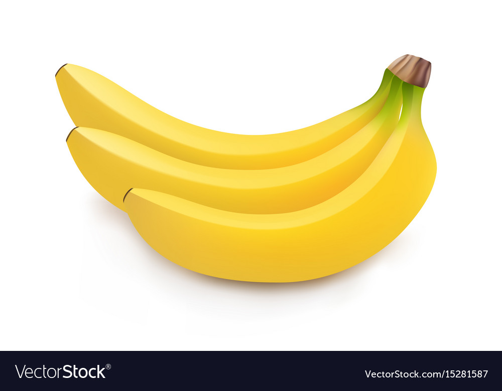 Realistic Of Bunch Of Bananas Royalty Free Vector Image