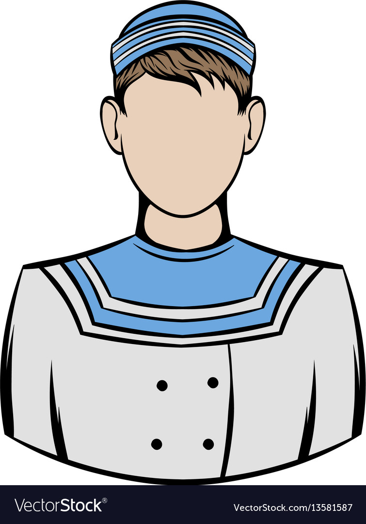 Sailor icon cartoon
