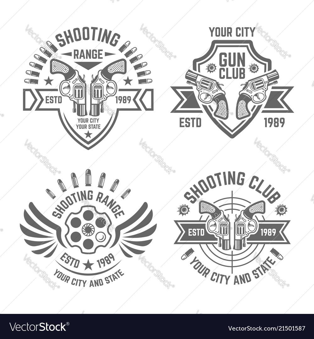 Shooting range or club emblems