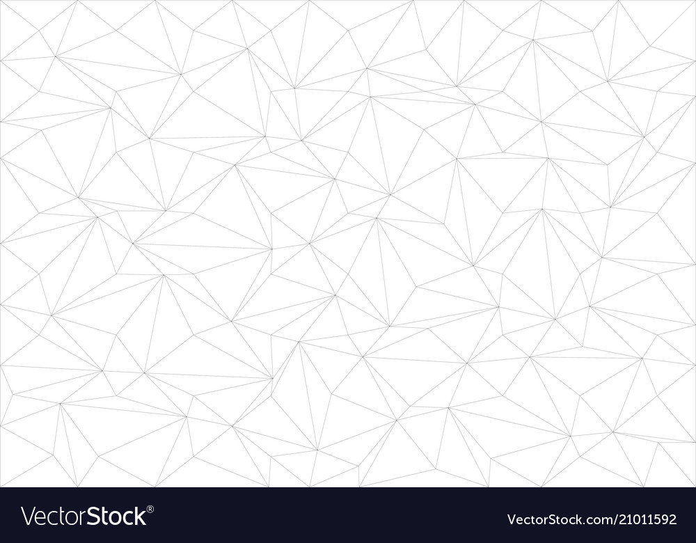 Abstract black line thin polygon pattern vector image