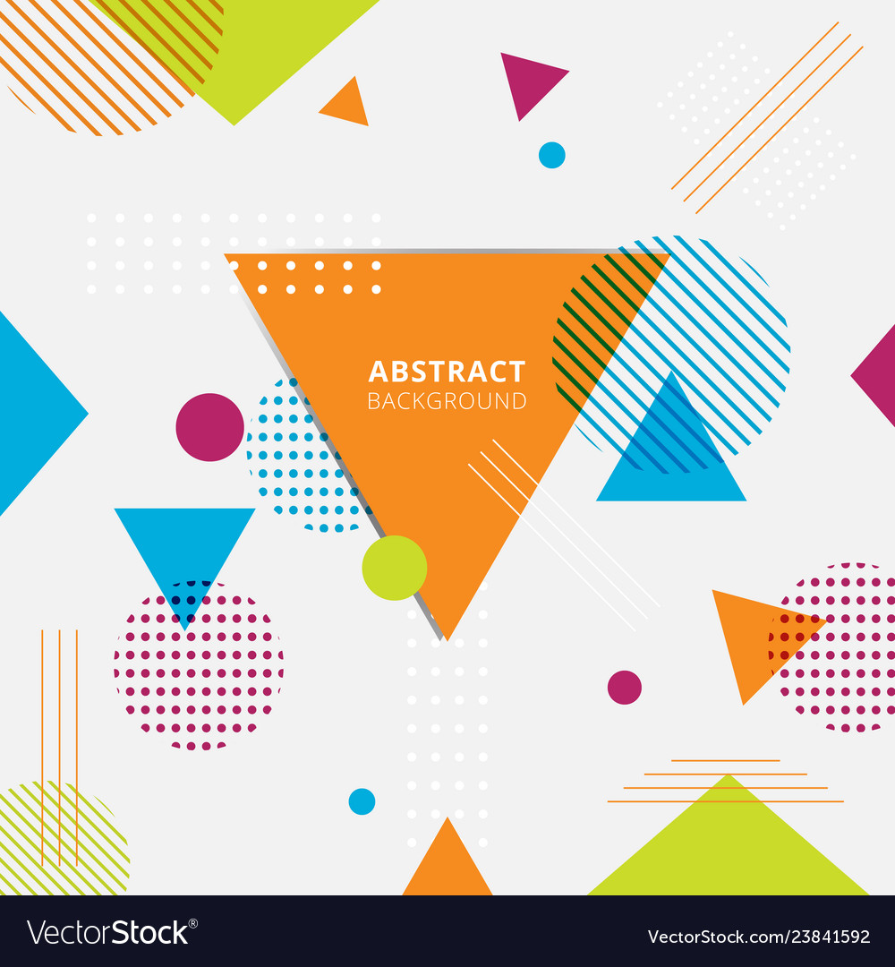 Abstract colorful geometric triangles circles
