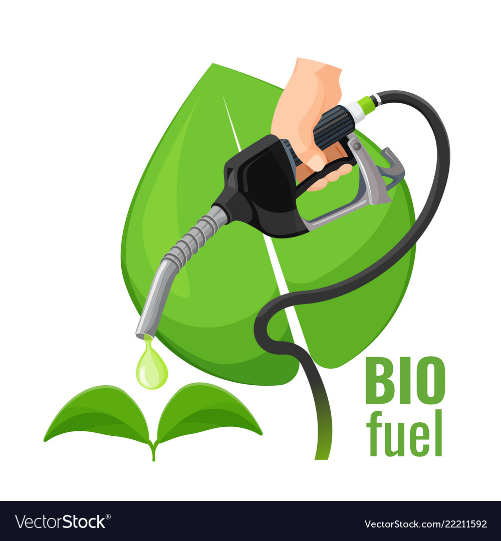 Biofuel concept emblem template for gasoline