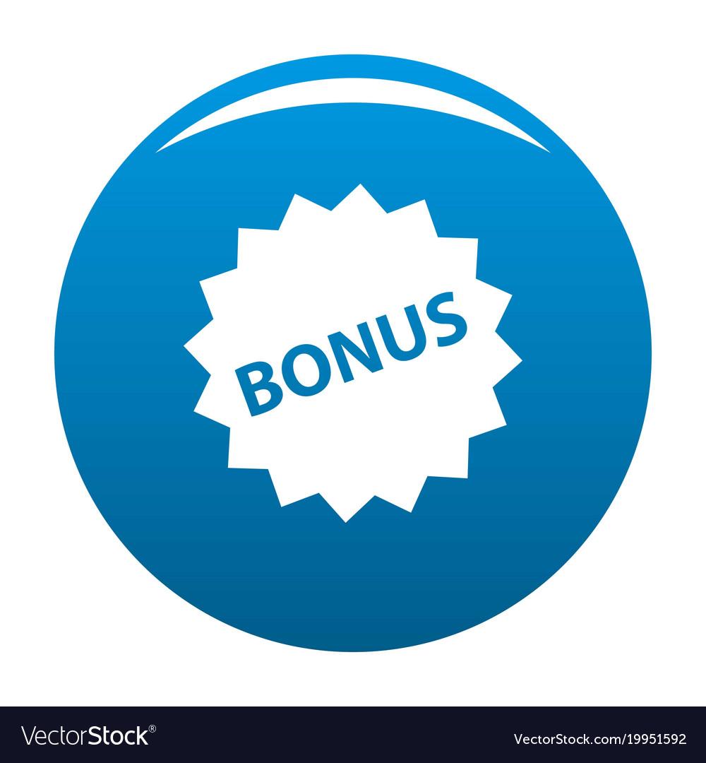 Bonus sign icon blue