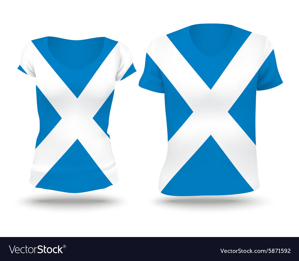 Flag shirt design of Scotland