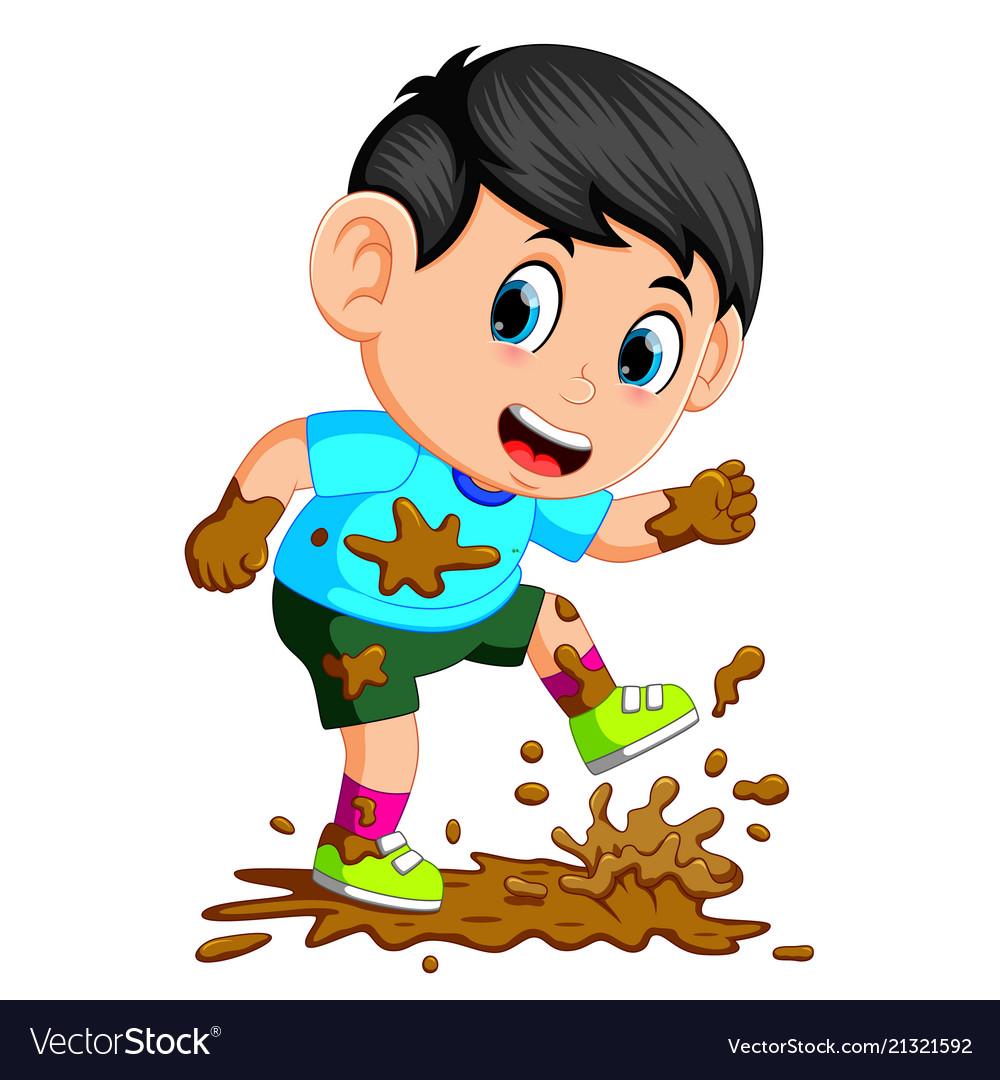 Dirt boy. Little running in the