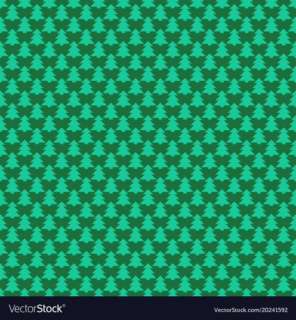 Retro simple stylized pine tree forest pattern vector image