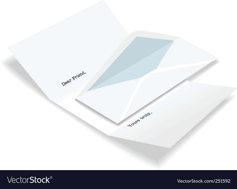 letter envelope template. Open Letter Envelope