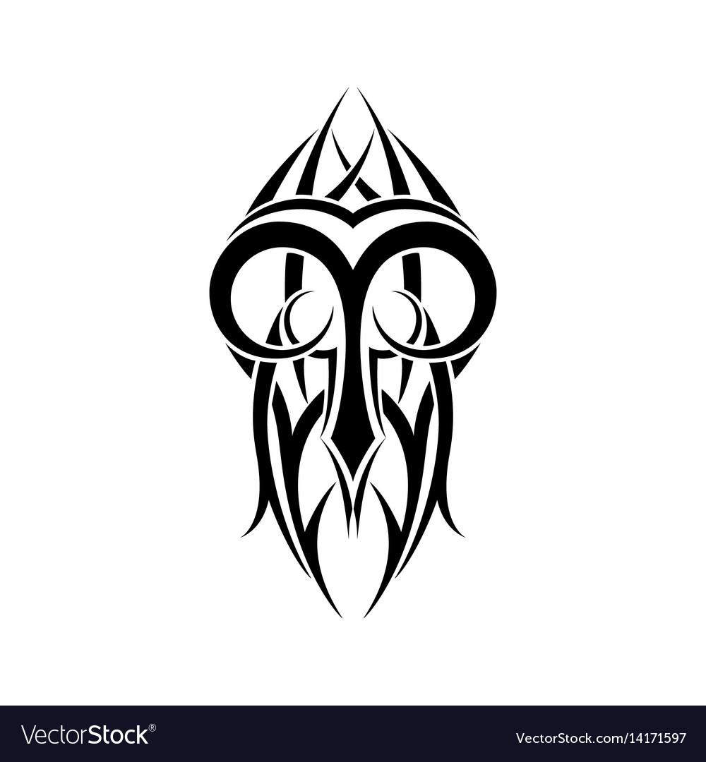 Aries zodiac abstract tribal tattoo design