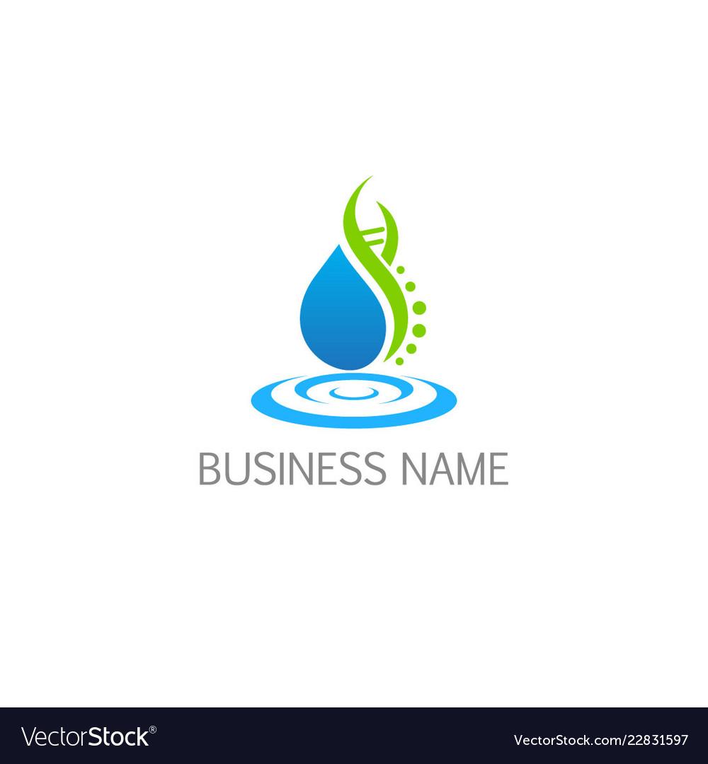 Bio eco water nature technology logo
