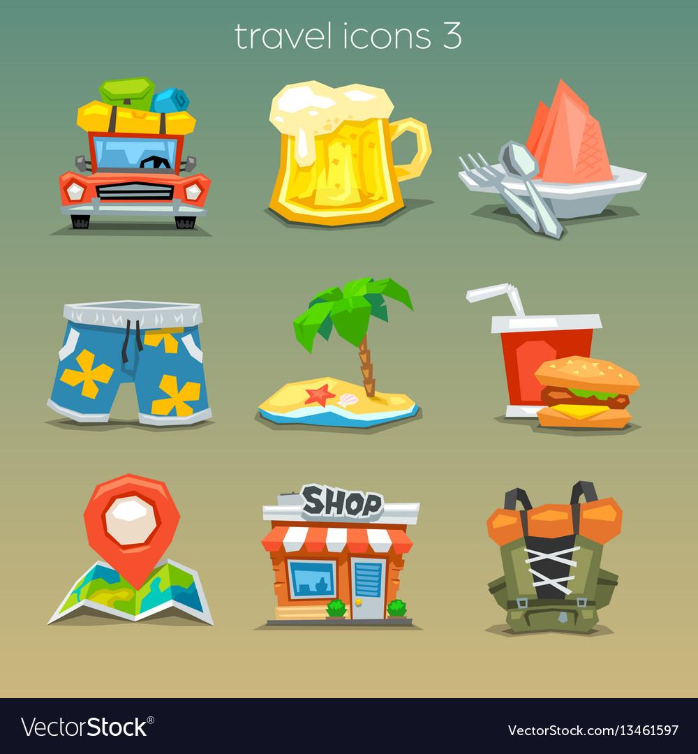Funny travel icons-set 3