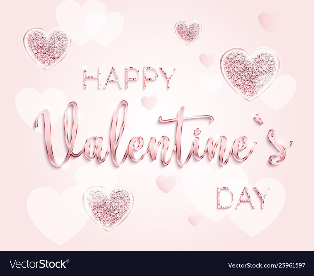 Happy valentines day romantic design card