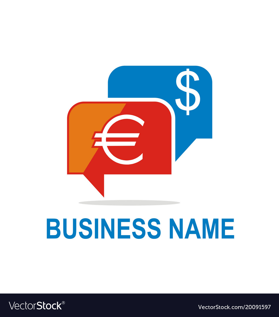 Money exchange business logo vector image