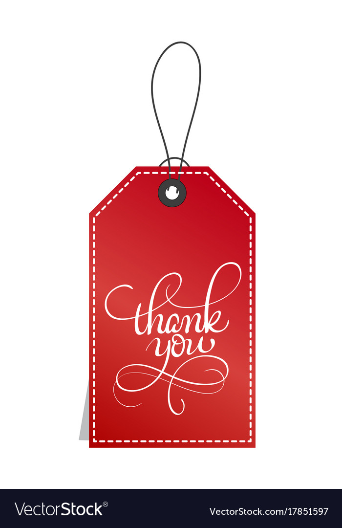 26ee9138c6d Red paper gift tags with text thank you Royalty Free Vector
