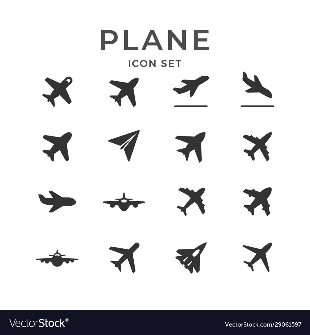 Set glyph icons plane