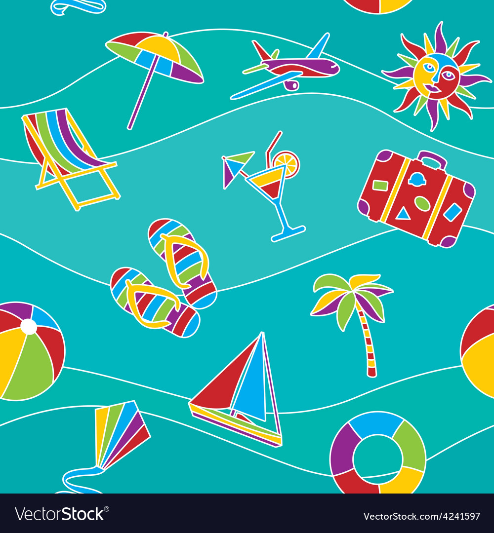 Vacation seamless pattern