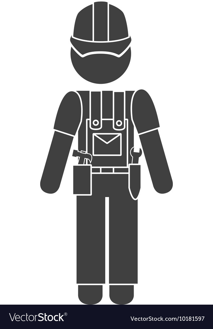 Worker construction male icon