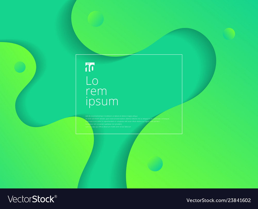Abstract wavy geometric dynamic 3d green