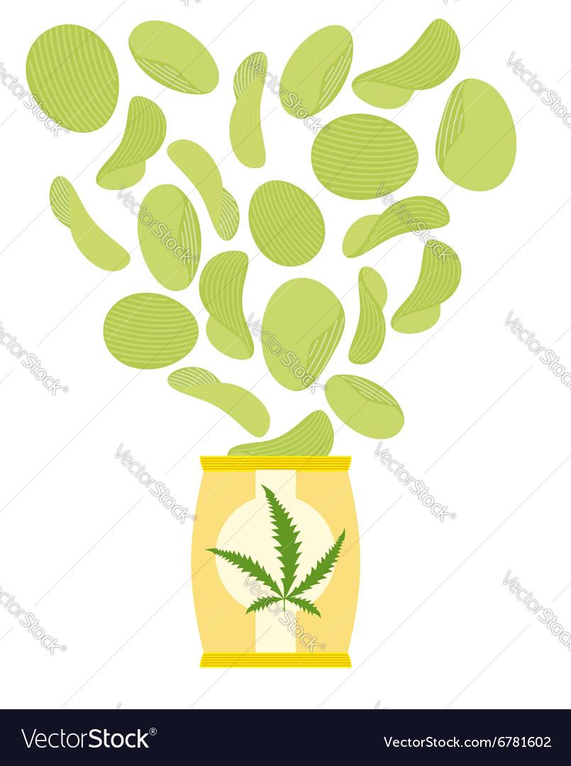 Marijuana and hemp chips Herbal green chips Chips