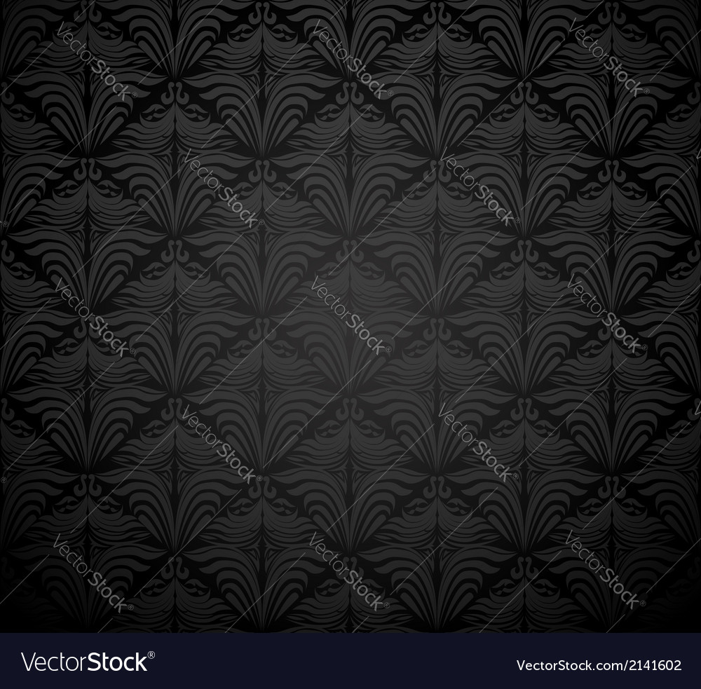 Seamless Floral Damask Wallpaper Royalty Free Vector Image