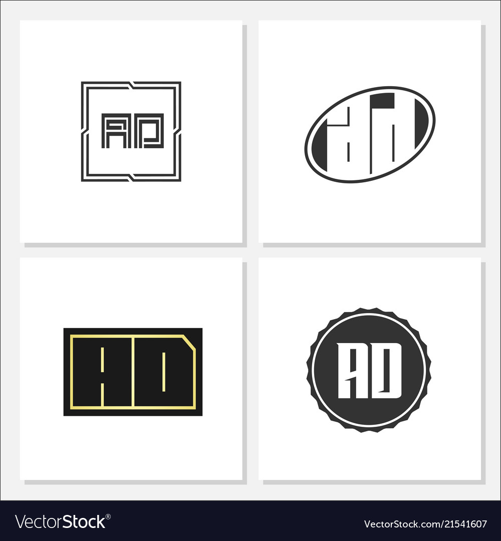 Initial letter ad logo template design