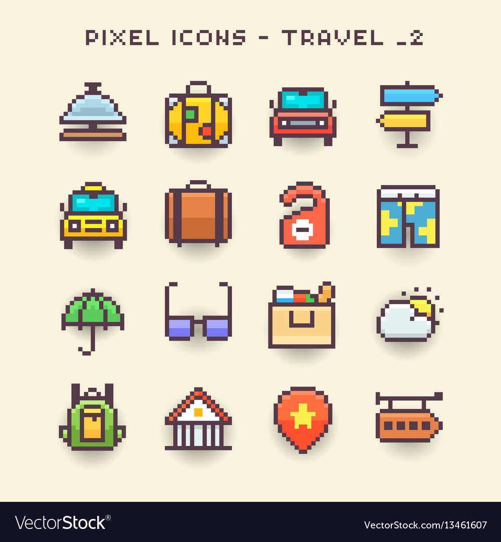Pixel icons-travel 2