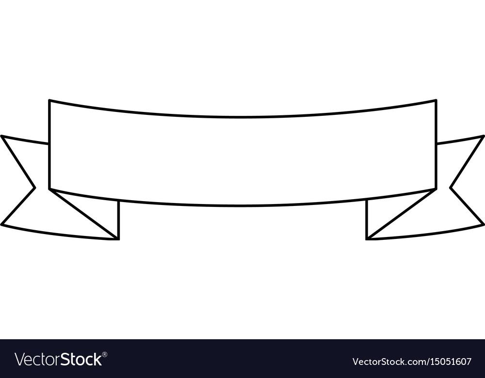 Ribbon emblem blank