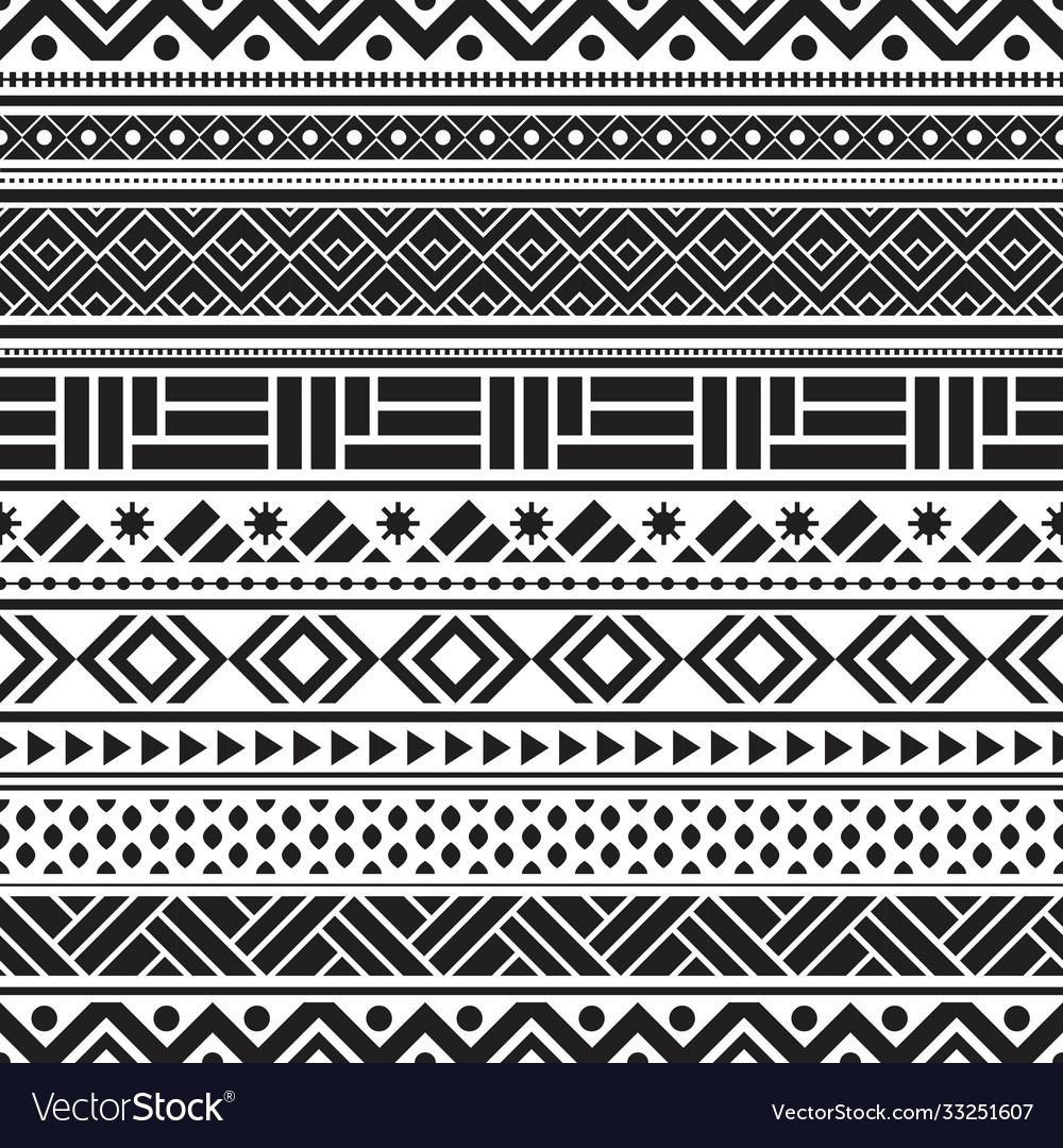 Tribal seamless pattern geometric seamless