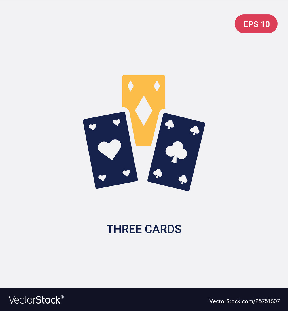 Two color three cards icon from ultimate