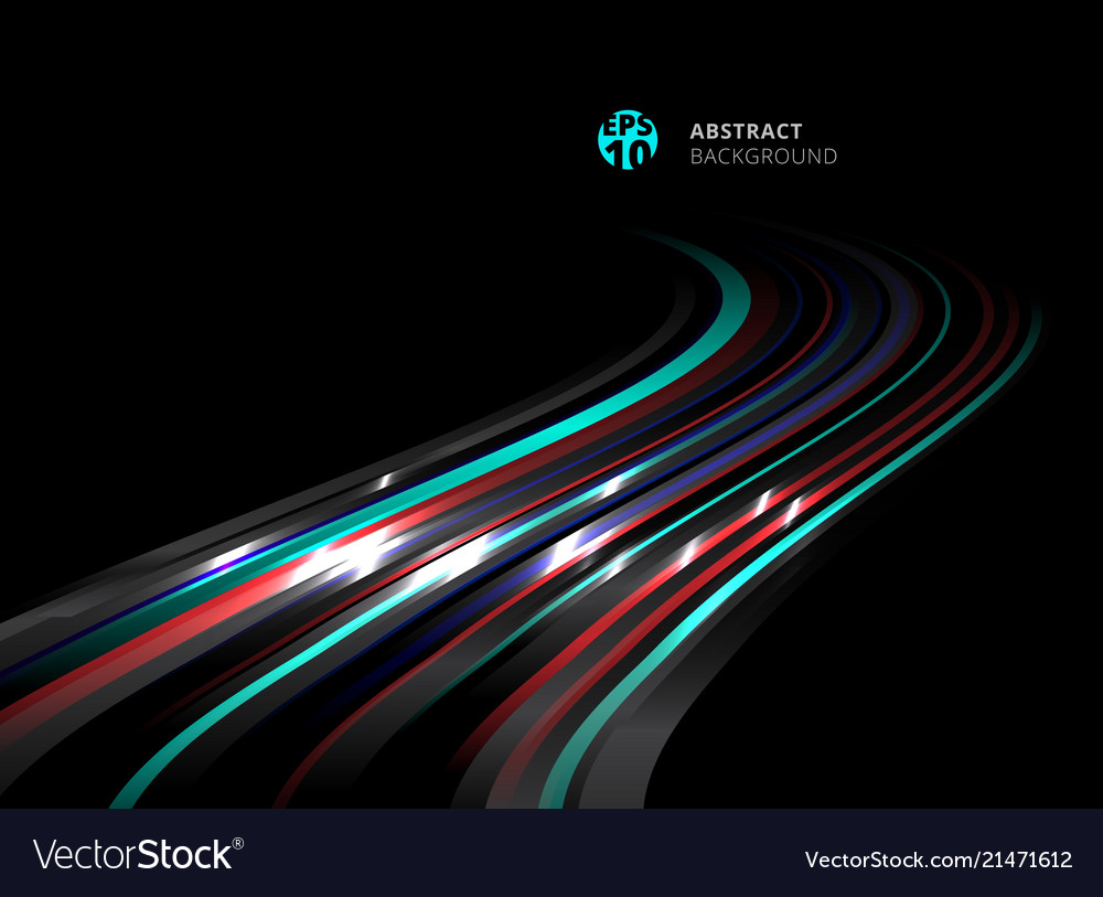 Abstract perspective technology striped blue red