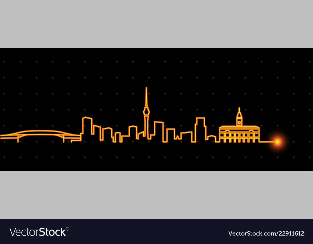 Auckland light streak skyline